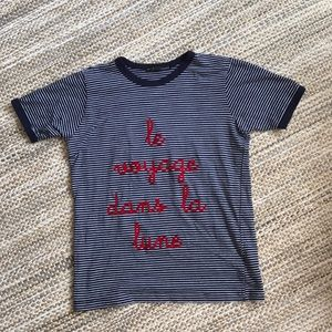 Urban outfitters French ringer tee size small